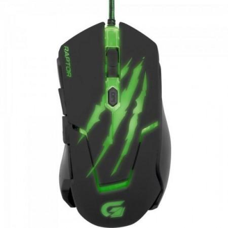 Mouse Gamer RAPTOR OM-801 Preto/Verde USB FORTREK