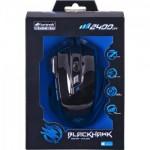 Mouse Gamer BLACK HAWK OM-703 Preto/Azul FORTREK - Foto 1