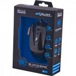 Mouse Gamer BLACK HAWK OM-703 Preto/Azul FORTREK - Foto 2
