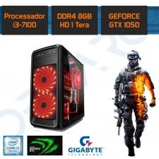 Detalhes do produto PC Gamer New Demarc  Intel Core I3 7100+GTX 1050 2GB+8GB+1TB
