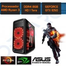 Detalhes do produto PC Gamer New Demarc Ryzen 3 1200+GTX 1050 2GB+8GB+1TB