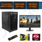 "PC Gamer Completo Demarc FX 6300+GT 1030 2GB+8GB+1TB+Monitor Full HD 21,5""+Teclado e Mouse Gamer"