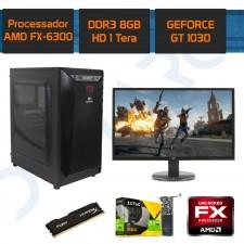 Detalhes do produto PC Gamer Completo Demarc FX 6300+GT 1030 2GB+8GB+1TB+Monitor Full HD 21,5