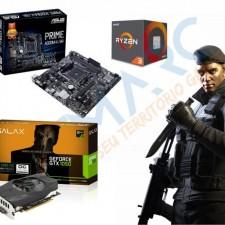 Detalhes do produto Kit Upgrade AMD Ryzen 3 1200 + Asus A320M-K/BR + GTX 1050 2GB