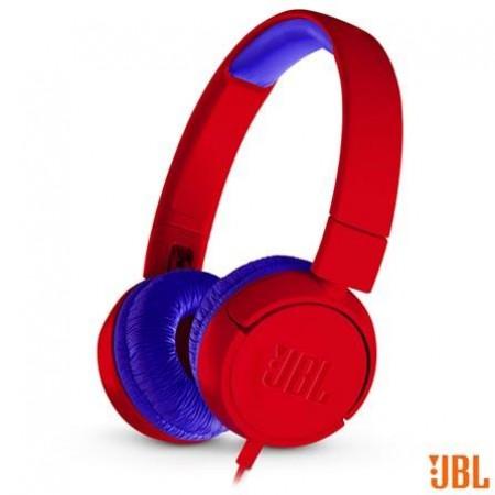 Fone de Ouvido JBL Headphone Vermelho e Azul - JR300RED
