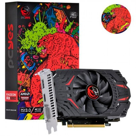 Placa de Video PCYES Radeon RX 550 4GB DDR5