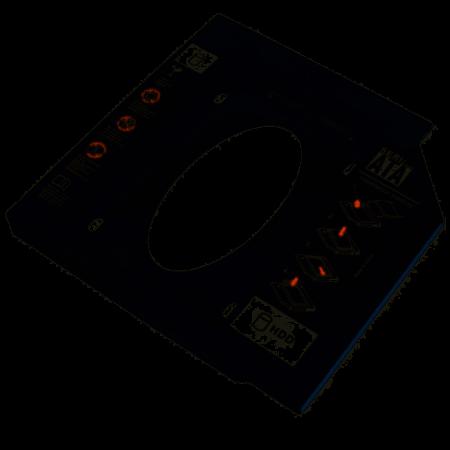 Adaptador HDD/SDD Multilaser para Notebook, Baia 12.7mm, CD/DVD - GA173