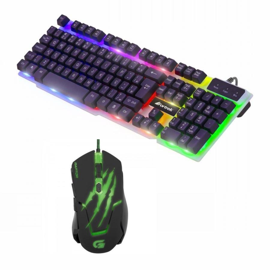 Kit Gamer Teclado Semi-Mecânico + Mouse Raptor
