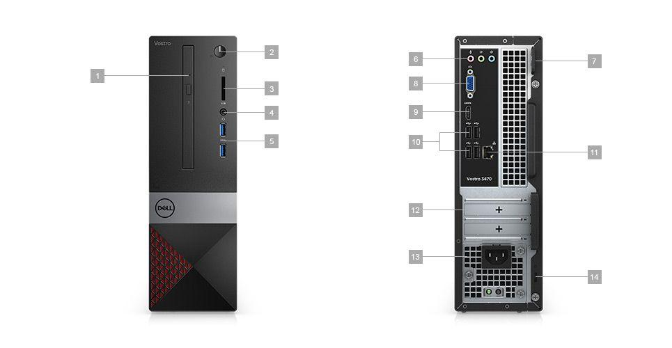 PC Dell Vostro 3470 Sff I3-8100 4Gb 1Tb Linux